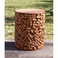 Bistro Collection Recycled Cork Wine Stopper Stool