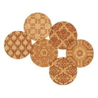Corkology Classic Demask Cork Coaster Set