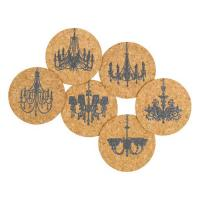 Corkology Elegance Above Cork Coaster Set