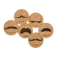 Corkology Styling Moustache Cork Coaster Set