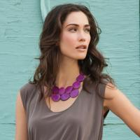 Tagua Bib Necklace by the Andean Collection