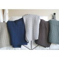 Organic Cotton Cable Knit Throws