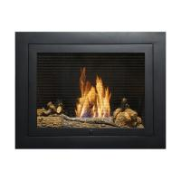 Hearth Cabinet Tall Modern Black Biofuel Fireplace