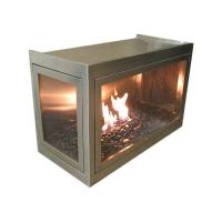 Hearth Cabinet 3-Side See-Through Custom Ventless Fireplace