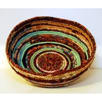 Brown-Aqua Bowl by Fiberactive Organics