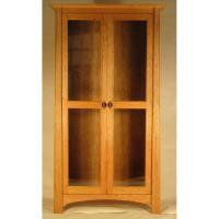 Maple Corner Woodworks - Harvestmoon Office Glass Door Bookcases