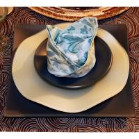 3-Piece Fusion Seaglass Place Setting by Riverside Design
