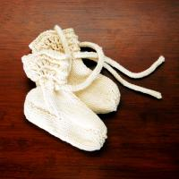 Baby Booties in Organic Wool