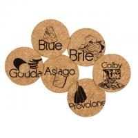 Cork Coaster Set Cheese Lover by Corkology