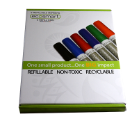 EcoSmart Kit of Refillable Non-Toxic Markers