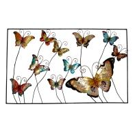 metallic wall art Butterfly garden