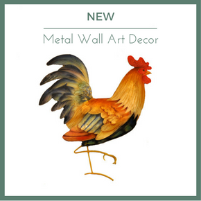 Rooster Metal Wall Art Decor