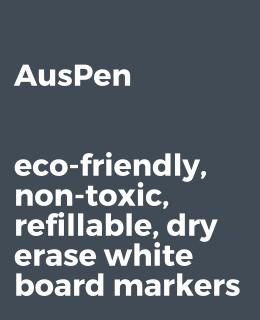 Auspen refillable non-toxic whiteboard markers