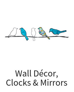 Wall Art Decor, Mirrors, Clocks