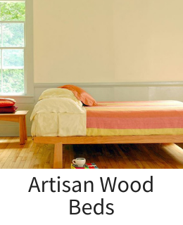 Hard wood maple cherry and walnut beds