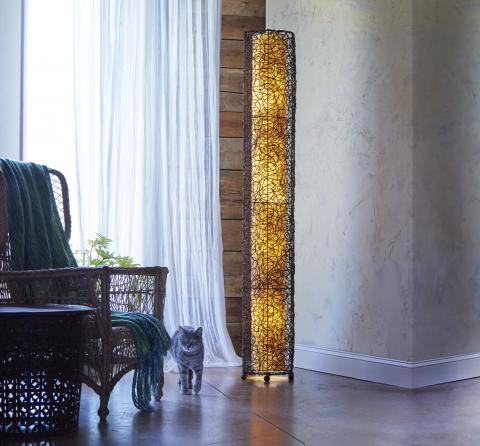 Eangee Giant Durian Nito Floor Lamp in Natural