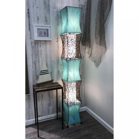 Eangee Pagoda Cocoa Leave Tall Floor Lamp