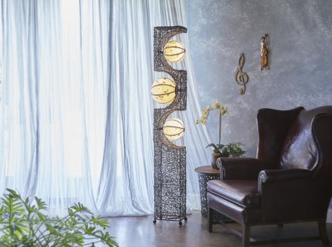 Eangee Tri-Orb Mid-Century Modern Lamp