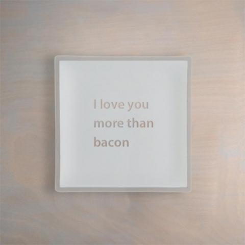 Engraved Personalized Recycled Glass Plate