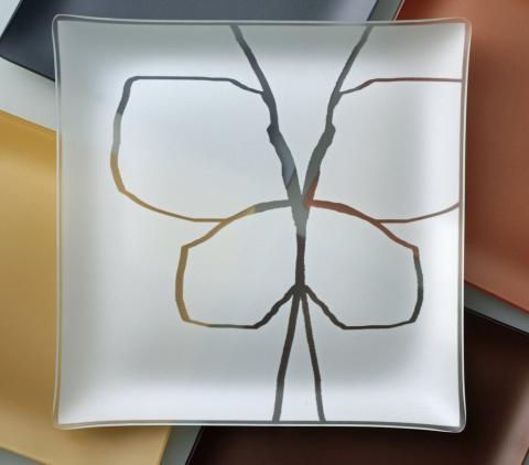 """Butterfly Engravable Plate 13"""""""