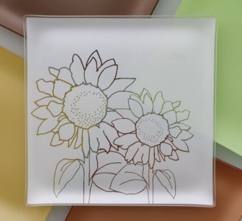 "Riverside Design 13"" Sunflower Plates With Purpose"