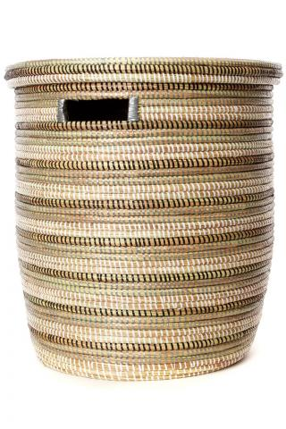 hand woven laundry basket with lid