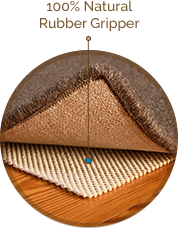 earth weave natural rubber gripper pad for under area rugs