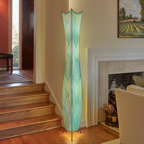 Eangee Giant Flowerbud Floor Lamp in Sea Blue
