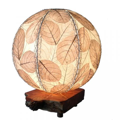 driftwood orb lamp in natural