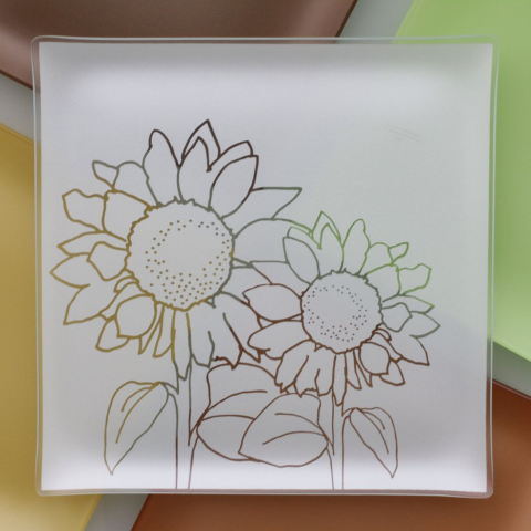 "Riverside Design 13"" Sunflower Plates With Purpose"