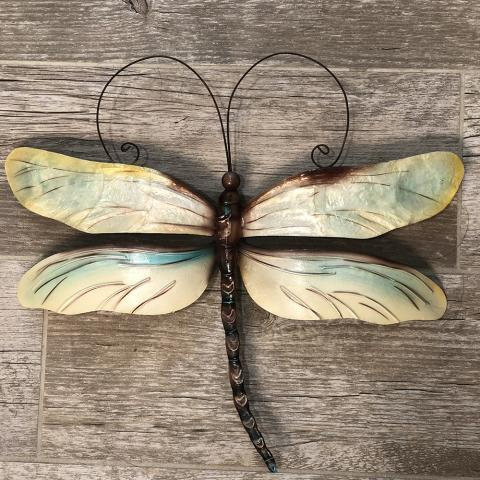 Eangee Dragonfly Wall Decor in Pearl