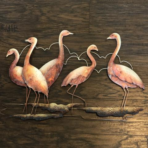 Eangee Flamingos Wall Decor Group Of Five