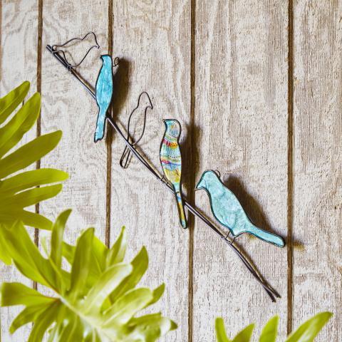 Eangee Birds on a Wire Metal Wall Art