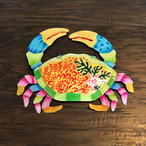 Eangee Crab Colorful Wall Decor