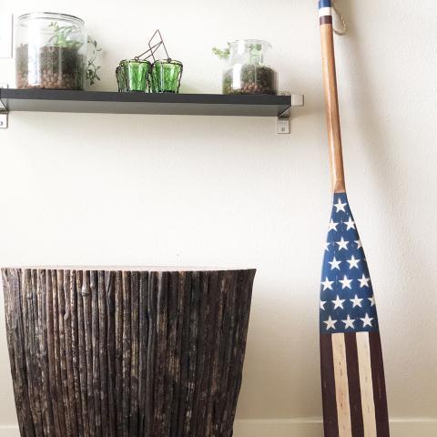 Americana Home Decor American Flag design Oar