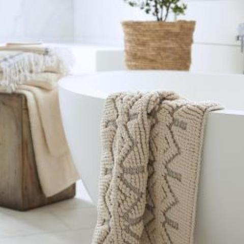Organic Cotton Bath Rug and Runner