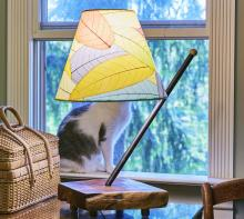 Eangee Natural Leaves Table and Desk Lamp