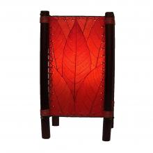 Fortune Table Lamp with real cocoa leaves