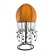 eangee jellyfish table lamp in orange