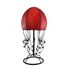 eangee jellyfish table lamp in red