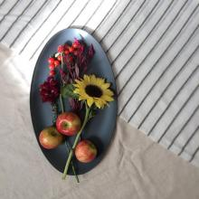 Riverside Design Recycled Glass Oval Platter Serving Dish