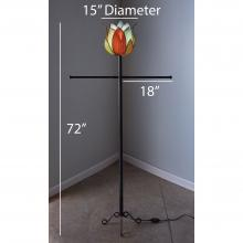 Dimensions of Lotus Tall Indoor or Outdoor Lamp