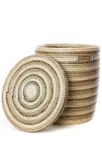 African Flat Lid Laundry Basket
