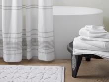Coyuchi Organic Bath Towels and Shower Curtain