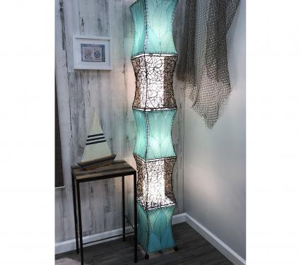 Eangee Pagoda Cocoa Leave Tall Floor Lamp