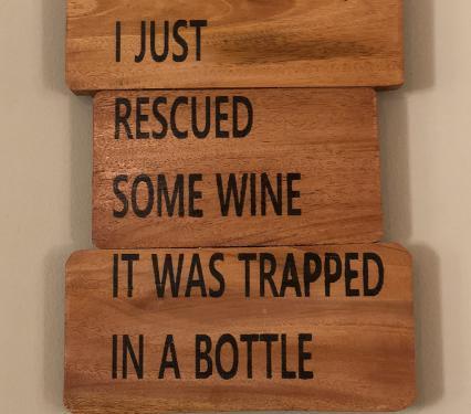 Wine Wall Decor on Reclaimed Wood