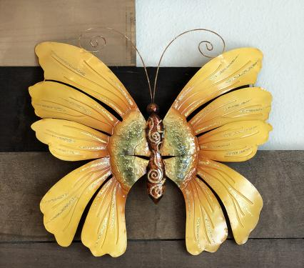 Sunflower Butterfly Wall Decor Metal Wall Art