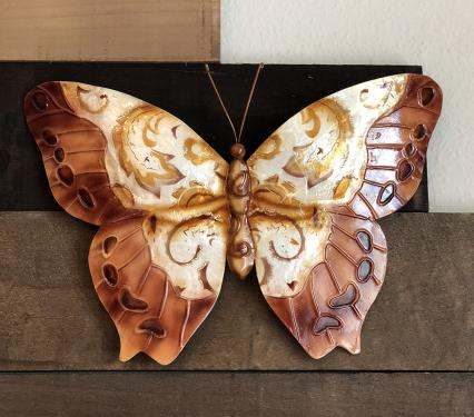 Copper Color Butterfly Metal Wall Art