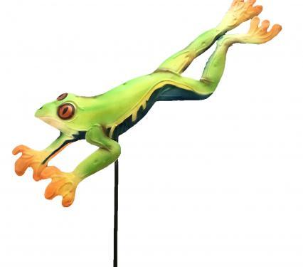 Leaping Frog Garden Stake