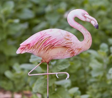 Eangee Pink Flamingo Garden Stake